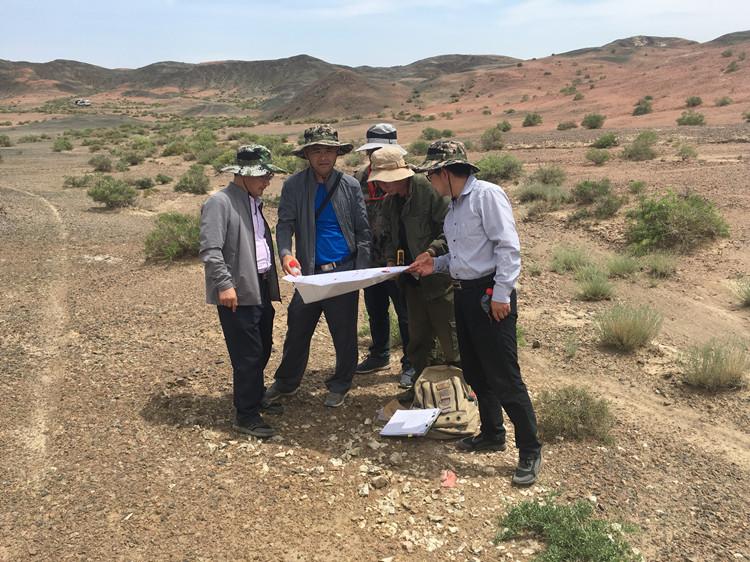 总工程师雒晓强带队赴野外检查地质项目
